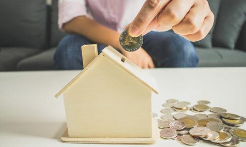Save money by saving the piggy bank. Buy house.